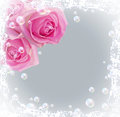 Roses And Bubbles Stock Image - 52978941