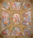 Rome -   Assumption Of The Virgin  By Domenichino On The Ceiling Of Side Chapel Of Basilica Di Santa Maria In Trastevere Stock Photos - 52985643