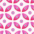 Eye Background Vector, Seamless Abstract Background Vector. Geometric Pink Eyes Ethnic Background Stock Image - 52989831