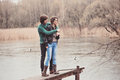 Lifestyle Outdoor Capture Of Young Loving Couple On The Walk In Early Spring Royalty Free Stock Photos - 52993208