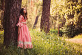 Summer Portrait Of Happy Child Girl Dressed In Pink Fairytale Princess Dress Royalty Free Stock Photography - 53013857
