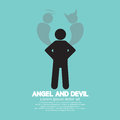 Angel And Devil Dark Side And Bright Side Of Human Stock Photos - 53018763
