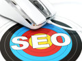 SEO Concept. Mouse On The Target With Text. Stock Images - 53022044