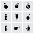 Vector Bomb Icon Set Royalty Free Stock Photos - 53024288