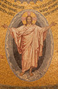 Jerusalem - The Mosaic Of Resurrected Christ On Ceiling Of Evangelical Lutheran Church Of Ascension Royalty Free Stock Photo - 53025055