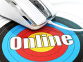 Online Concept. Mouse On The Target With Text. Stock Photos - 53027913