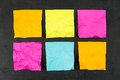 Blank Sticky Notes Stock Photos - 53037973