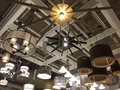 Light Fixtures Selling At Furniture Market Royalty Free Stock Photography - 53044907