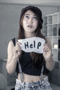 Hopeless Girl Need A Help Stock Images - 53048734