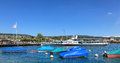 Lake Zurich In Summer Royalty Free Stock Photos - 53056808