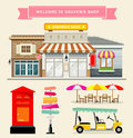 Vector Souvenir Shop Collections Concepts Design Stock Photography - 53060002