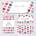 Watercolor Cards Set Stock Images - 53077234