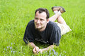 Young Man Laying In Grass Royalty Free Stock Image - 5316466