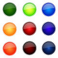 Set Of Round Website Buttons Stock Photos - 5319783