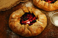 Crusty Open Pies Or Galette With Apples And Summer Berries Royalty Free Stock Photo - 53103185