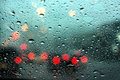 Rainy Drop On Mirror With Bokeh Stock Images - 53105244