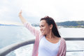 Young Woman Girl In Sunglasses During Bosphorus Cruise Royalty Free Stock Photography - 53105677
