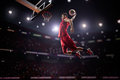 Red Basketball Player In Action Royalty Free Stock Image - 53108536