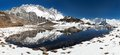 Panoramic View Of Lhotse And Nuptse With Lake Stock Images - 53112614