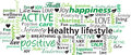 Healthy Lifestyle Word Cloud Collage Vector Stock Photography - 53119312