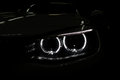 Car Headlight With Backlight On Black. Royalty Free Stock Photo - 53119835