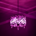 Interior Lampshade Purple And Pink Color Lighting Dark Mood Royalty Free Stock Photos - 53138918