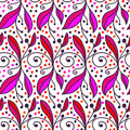 Ornamental Doodle Floral Background. Seamless Pattern For Your Design Wallpapers, Pattern Fills, Web Page Backgrounds, Surface Tex Royalty Free Stock Image - 53139706