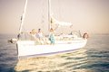 People Partying On Boat Stock Photography - 53161182