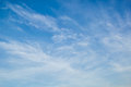 Blue Sky With Light White Cirrus Clouds Stock Image - 53176101