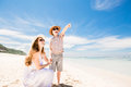 Happy Beautiful Young Mother And Son Enjoying Stock Image - 53185491