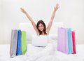 Young Woman Shopping Online Royalty Free Stock Images - 53186219