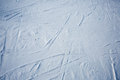 Traces Of Skis And Shoe On The Snow Stock Images - 53188654