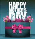 Happy Mothers Day Shopping Bag And Tulips Stock Photos - 53192743