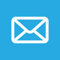 White Email Button Icon Royalty Free Stock Photography - 53193797