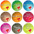 Colorful Love With Quotes Stock Images - 5321604