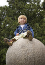 Girl On A Sphere Stock Photography - 5324202