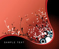 Abstract Grunge Floral Stock Image - 5325821