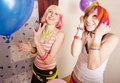 Girls With Balloons Stock Image - 5326361