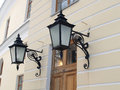 Pavlovsk. Two Decorative Lamps On A Wall Of The Big Palace Royalty Free Stock Photography - 53217157