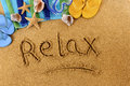 Relax Beach Writing Stock Images - 53217684