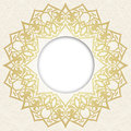 Vector Ornate Round Border In Eastern Style. Stock Photos - 53218813