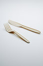 Plastic Fork And Knife Royalty Free Stock Photography - 53227817