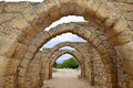 Remains Of The Archs In Ancient City Of Caesarea, Israel Stock Photo - 53232330