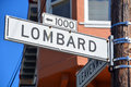 Lombard Street Sign Royalty Free Stock Images - 53237379