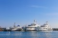 Yachts Anchored In Port Pierre Canto In Cannes Stock Photo - 53241190