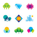 Transparent City Logo Landscape Beauty Mosaic Geometric Icon Set Royalty Free Stock Image - 53243186