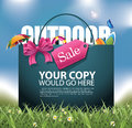 Outdoor Sale Shopping Bag Background Royalty Free Stock Photo - 53249595
