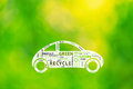Conceptual Eco Green Car Driving With Word Eco Tags Stock Image - 53254381