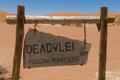 Dead Vlei Sign Royalty Free Stock Image - 53261716
