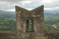 Wall Of The Fortress In San Marino Royalty Free Stock Images - 53273829